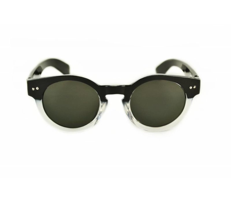 FLORENCE BLACK - BLACK TRANSPARANT ROUND WOMEN SUNGLASSES