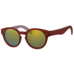 BK Retro Unisex Ronde Spiegel Zonnebril Summer Nights - Red Gold