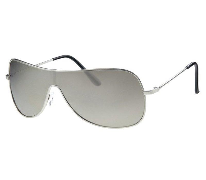 New Spiegelglas Unisex Zonnebril - Silver Shield