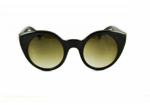 BK Zwarte Zonnebril - Butterfly Vintage