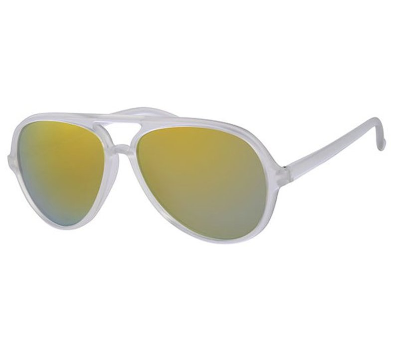 EASY - RETRO FROSTED SUMMER STYLE AVIATOR MIRROR SUNGLASSES