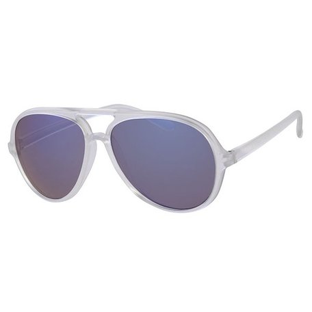 Retro Frosted Party Summer Style Aviator Pilotenzonnebril - Ice Sunny