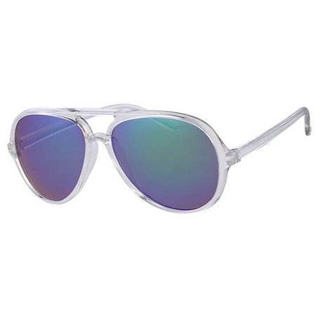 RETRO FROSTED PARTY SUMMER STYLE AVIATOR - OCEAN SUNNY