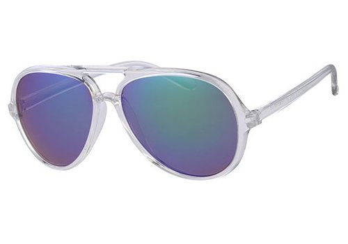 BK RETRO FROSTED PARTY SUMMER STYLE AVIATOR - OCEAN SUNNY