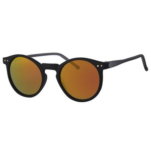 BK ROUND RETRO REVO MIRROR SUNGLASSES FLASH CLASSIC - URBAN BLACK FIRE