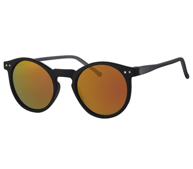ROUND RETRO REVO MIRROR SUNGLASSES FLASH CLASSIC - URBAN BLACK FIRE