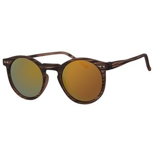 BK ROUND RETRO REVO MIRROR SUNGLASSES FLASH CLASSIC - URBAN TORTOISE SUN GOLD