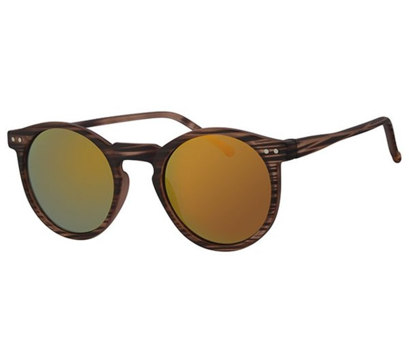 ROUND RETRO REVO MIRROR SUNGLASSES FLASH CLASSIC - URBAN TORTOISE SUN GOLD