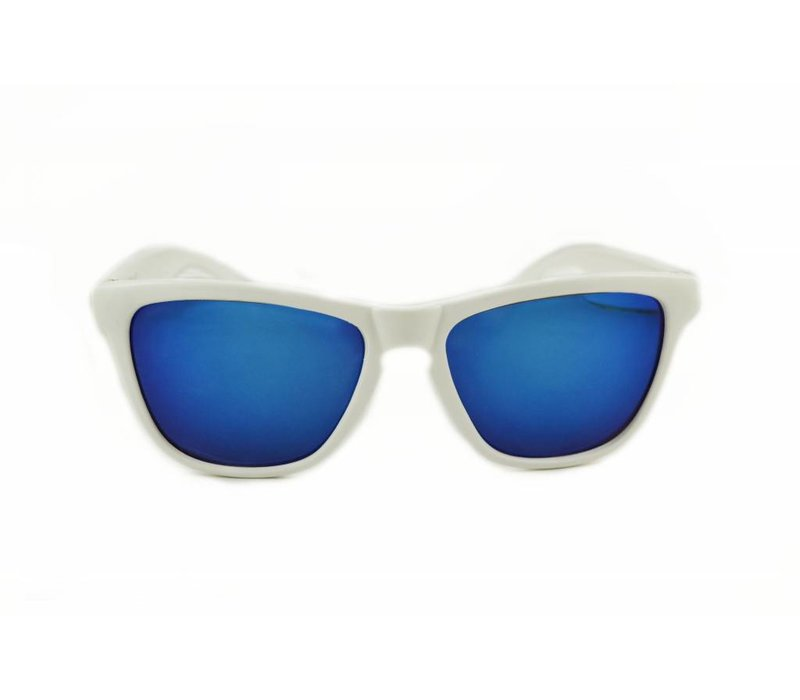 WHITE REVO MIRROR SUNGLASSES - SHINE WAY