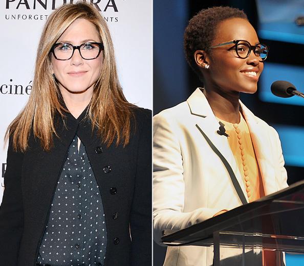 celebrities met een bril met doorzichtige glazen