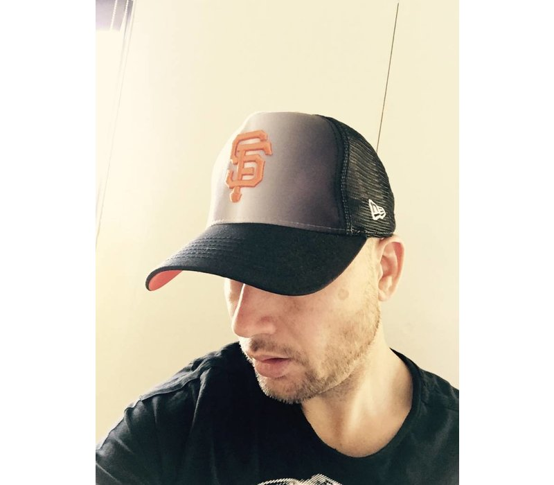 EXCLUSIVE SNAPBACK CAP SF BLACK/ORANGE