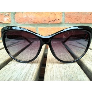 BK WOMENS RETRO CAT EYE SUNGLASSES TWO TONE BLACK BROWN TORTOISE - CLEO