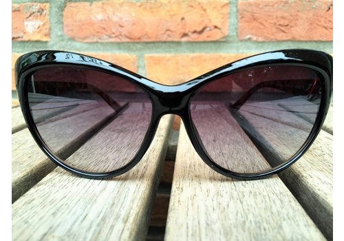 BK WOMENS RETRO CAT EYE SUNGLASSES TWO TONE BLACK BROWN TORTOISE