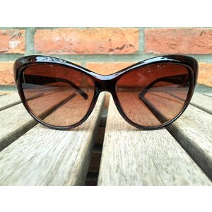 BK WOMENS RETRO CAT EYE SUNGLASSES TWO TONE BROWN TORTOISE BLACK - LARA