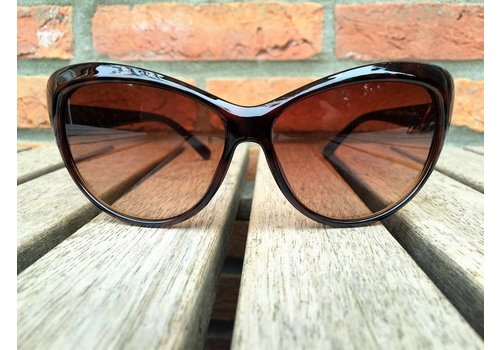 BK WOMENS RETRO CAT EYE SUNGLASSES TWO TONE BROWN TORTOISE BLACK