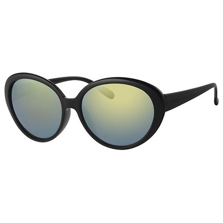 BLACK WOMENS SUNGLASSES - BLACK GREEN