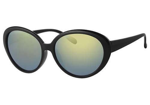 BK BLACK WOMENS SUNGLASSES - BLACK GREEN