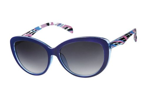 BK WOMENS RETRO CAT EYE SUNGLASSES - PURPLE POLARIS