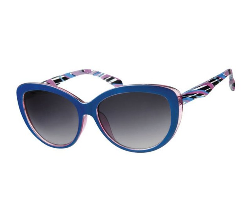 WOMENS RETRO CAT EYE SUNGLASSES - BLUE BAY