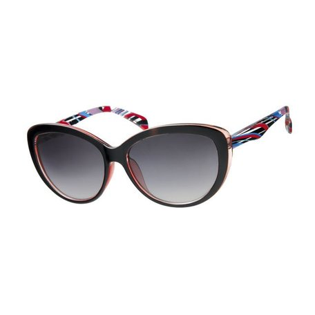 WOMENS RETRO CAT EYE SUNGLASSES - BLACK MIDNIGHT