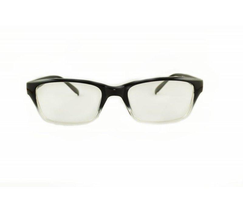 Zwart/Transparante Bril - Trendy Italia