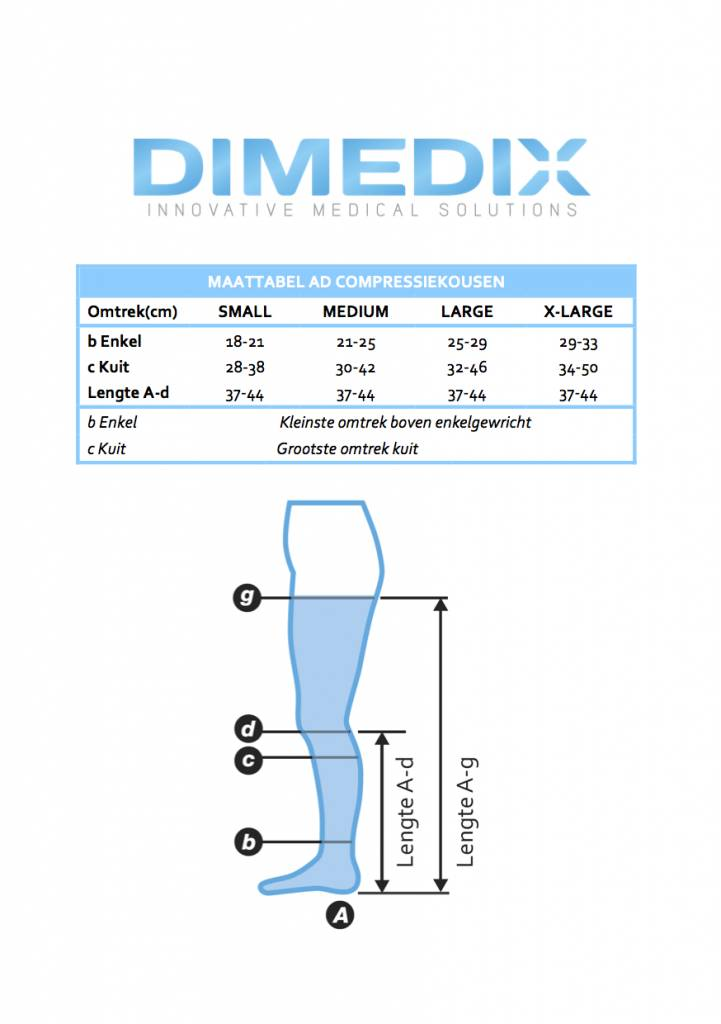 DIMEDIX X-LIGHT (Ccl. 1) steunkousen