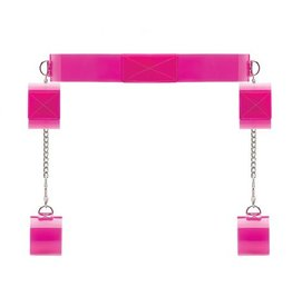 Bad Romance Roze transparante bondage riem met klittenband