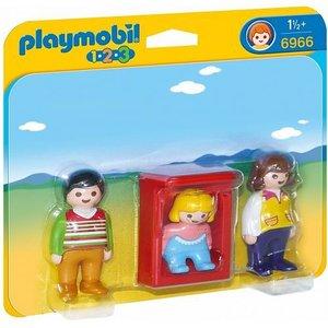 Playmobil 1 2 3 Ouders met Baby 6966