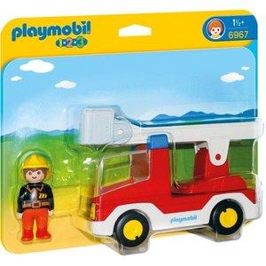 Playmobil 1 2 3 Brandweerwagen met Ladder 6967