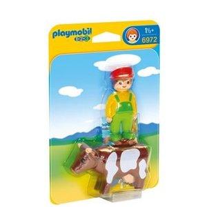 Playmobil 1 2 3 Boer met Koe 6972