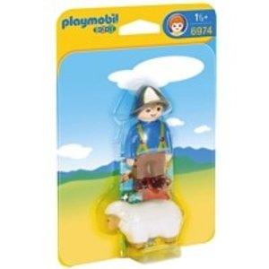 Playmobil 1 2 3 Herder met Schaap 6974