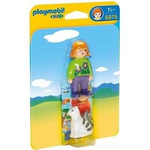 Playmobil 1 2 3 Verzorgster met Kat 6975