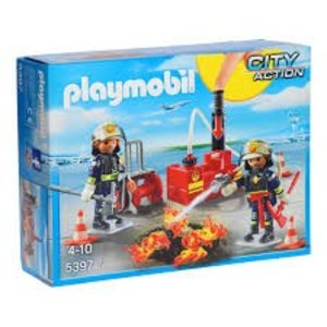 Playmobil City Action Brandweermannen met Blusmateriaal 5397