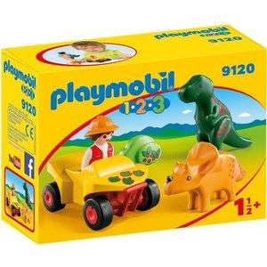 Playmobil 123 Dino Onderzoeker met Quad 9120