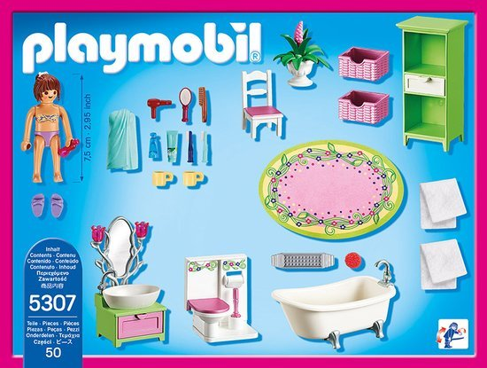 Playmobil Playmobil Dollhouse Badkamer met Bad op Pootjes 5307 ...