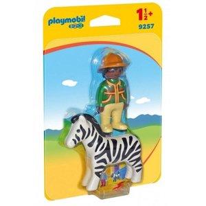 Playmobil 123 Verzorger met Zebra 9257