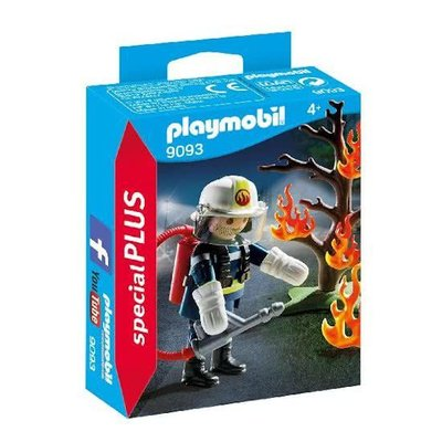 Playmobil Playmobil Special Plus Brandweerman met Brandende Boom 9093