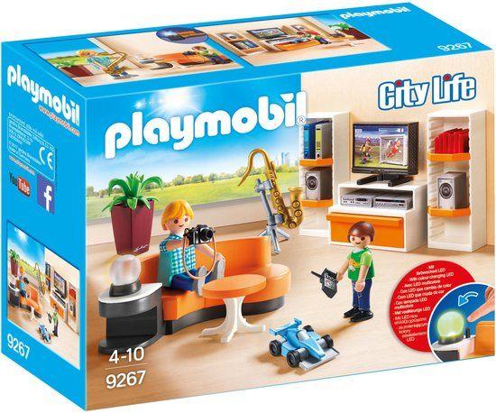 Playmobil playmobil city life salon 9267 for Salon playmobil