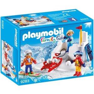 Playmobil Family Fun Sneeuwballengevecht 9283