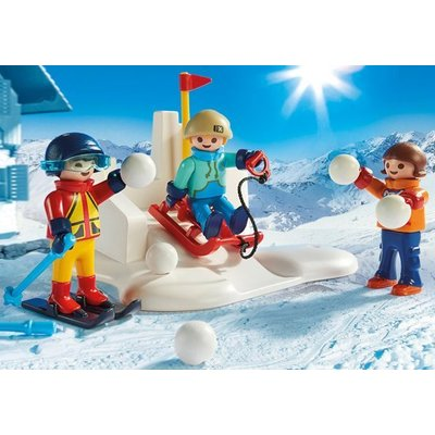 Playmobil Playmobil Family Fun Sneeuwballengevecht 9283