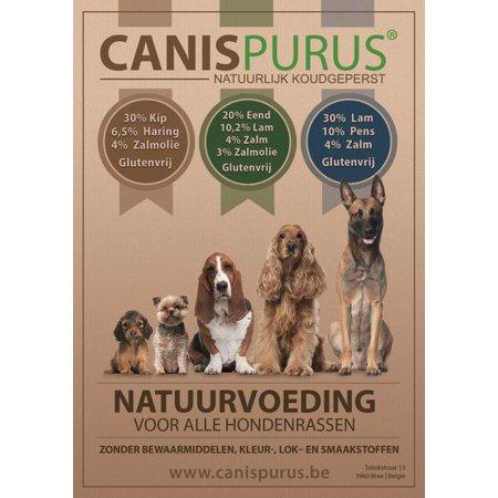 Canis Purus Koud geperste brok van Lam, Pens & Zalm