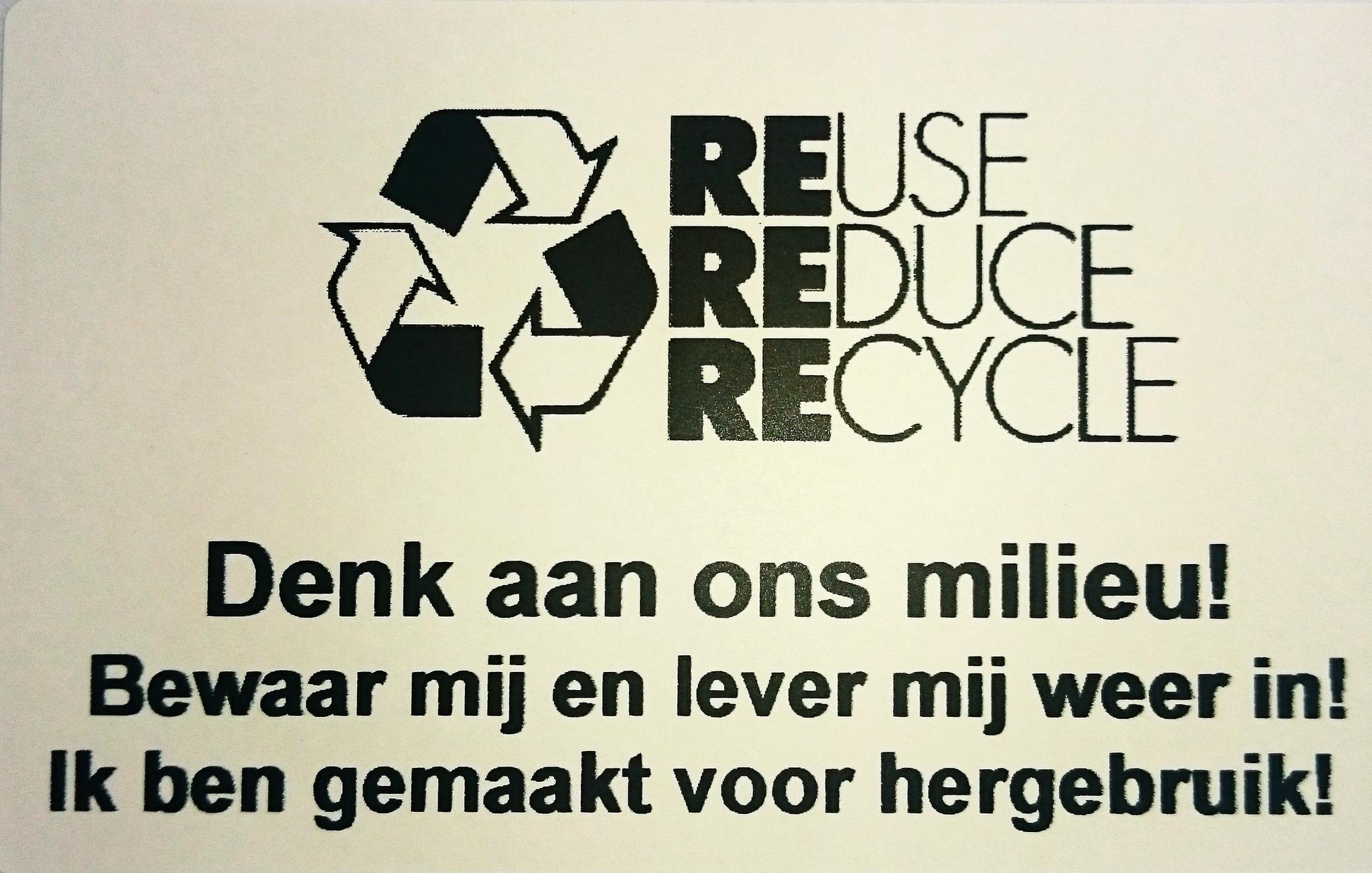 Spaar het milieu, gebruik verpakkingen opnieuw!