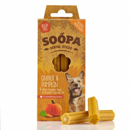 Soopa  Soopa dental sticks van wortel en pompoen