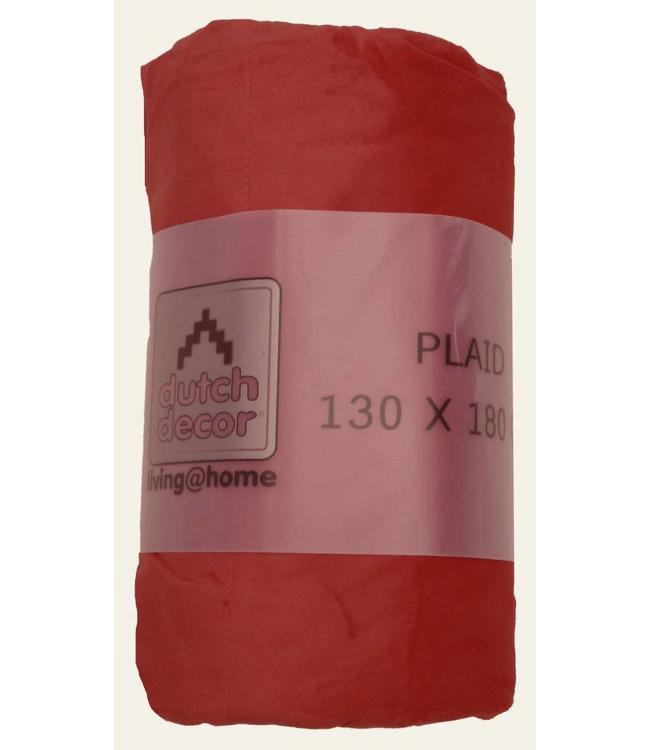 plaid Velvet 130x180 cm bordo
