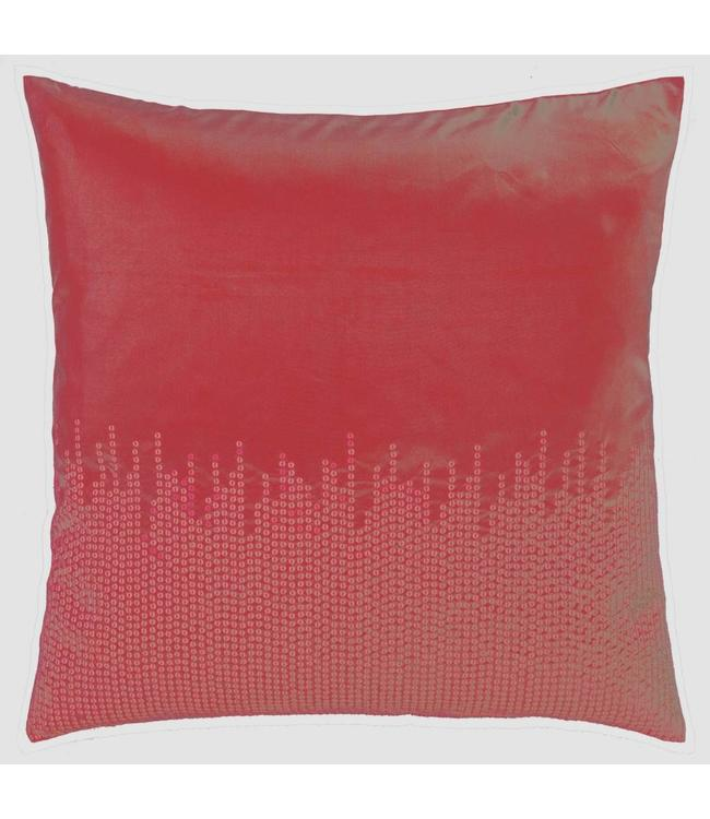 Dutch Decor kussenhoes Adana 45x45 cm rood