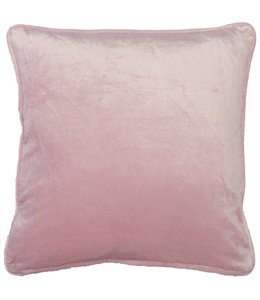 Dutch Decor sierkussen Fluweel 45x45 cm roze