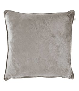 Dutch Decor kussenhoes Velvet 45x45 cm licht grijs
