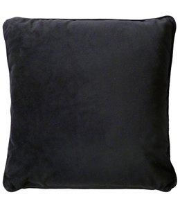 Dutch Decor sierkussen Velvet 45x45 cm zwart
