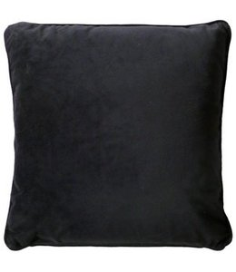 Dutch Decor kussenhoes Velvet 45x45 cm zwart
