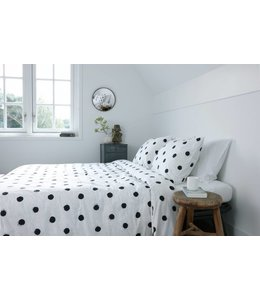 Dutch Decor Dekbedovertrek Nina 135x200 cm wit/zwart